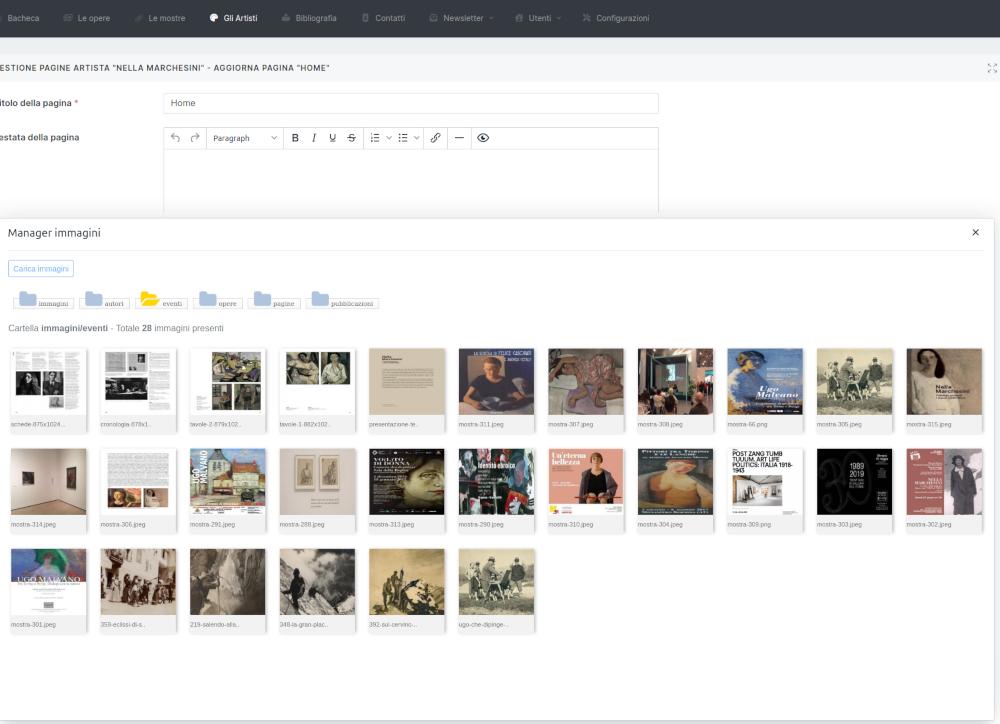 Gestione editor di testo e immagini